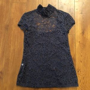 Express Floral Lace Top Blouse